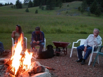 campfire, couples, singles