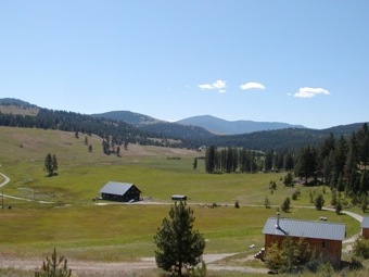 Eden Valley Guest Ranch views Mt. Bonaparte