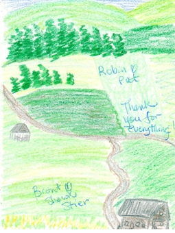 Guests were moved to create Eden Valley Drawing.