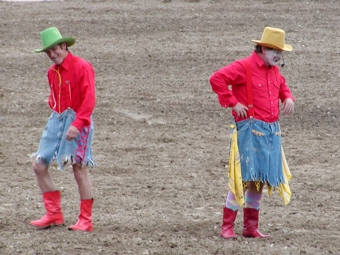 Clowns at Tonasket Founder's Day Rodeo