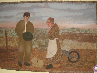Pioneer Folk Art Collage, by Elsie Johnson in Molson Grange Hall.